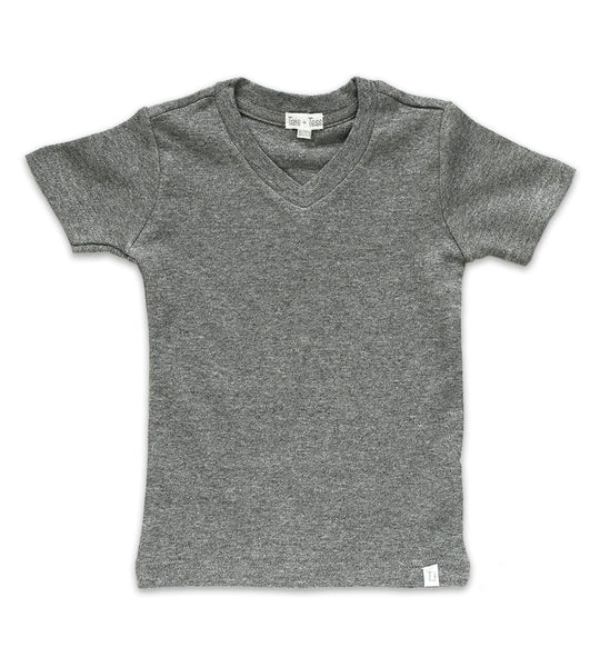 V-Neck - Heather Gray