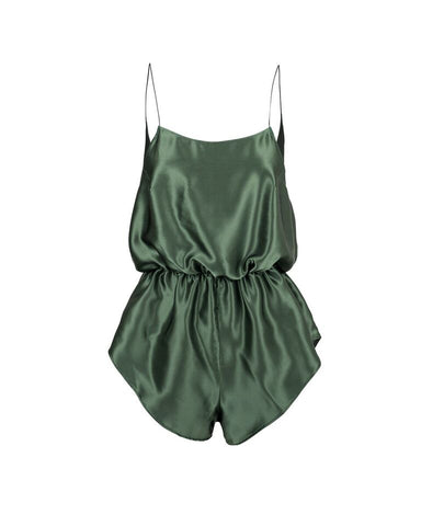 Miss Winks Online Lingerie Boutique- Aimee Cherie Intimates- Frankie Romper- Silk- Forrest