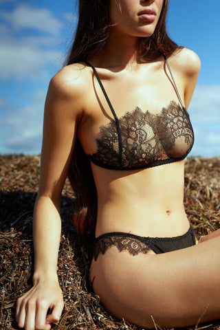 Miss Winks Online Lingerie Boutique- Aimee Cherie Intimates- Mia Crop Black