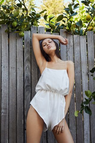 Aimee Cherie Intimates- Frankie Romper in Ivory- Miss Winks Online Lingerie Boutique Canberra