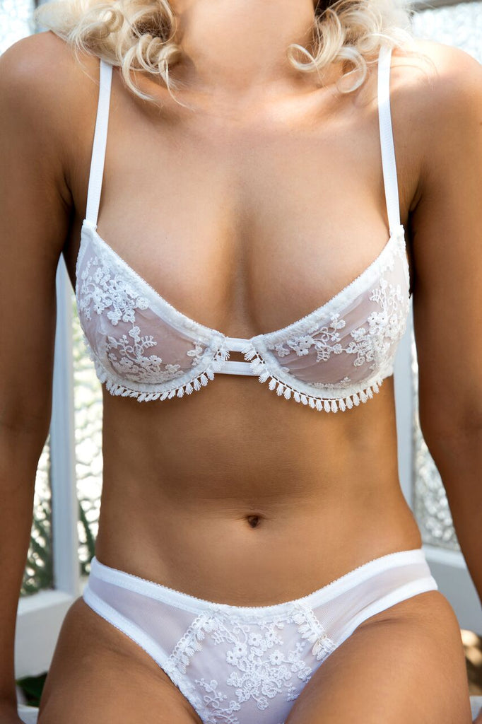 Orient Underwire- White- Kat the Label- Miss Winks Online Lingerie Boutique
