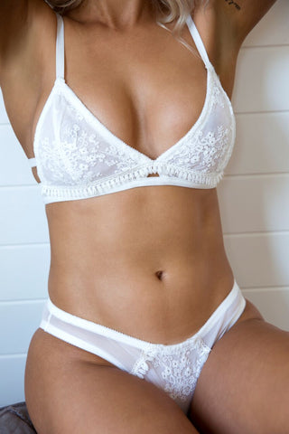 Orient Bralette- White- Kat the Label- Miss Winks Online Lingerie Boutique