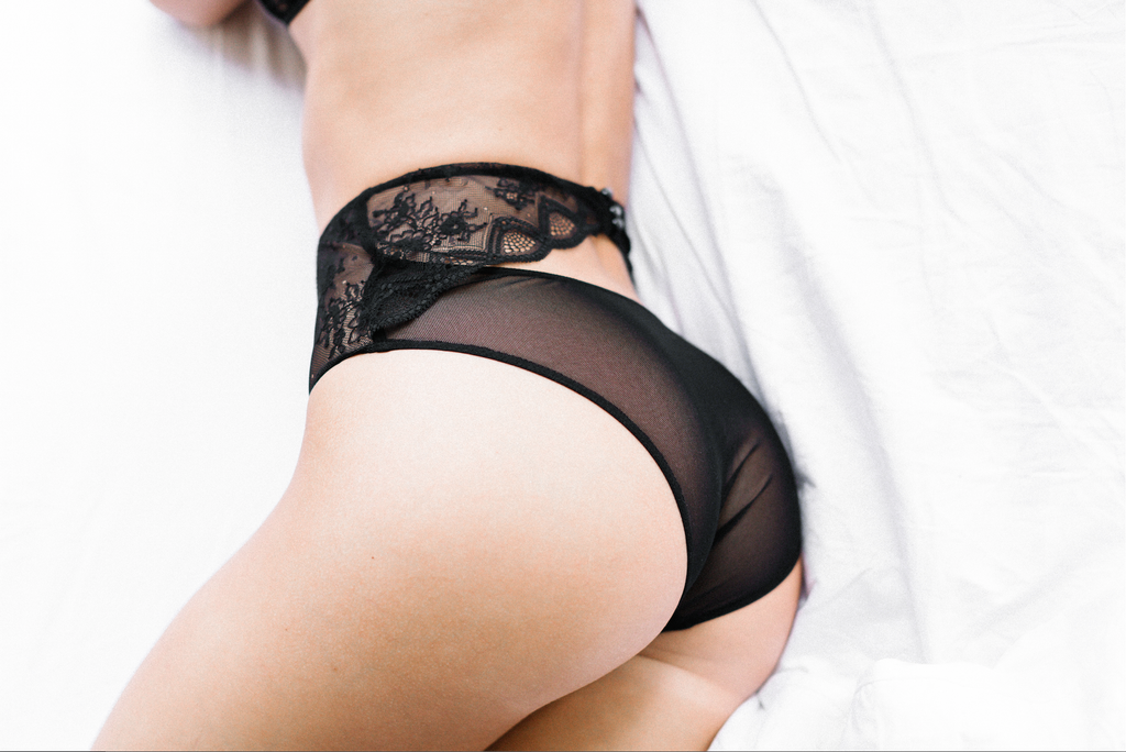 Mae's Sunday Dalliance High Waisted Knicker- Black
