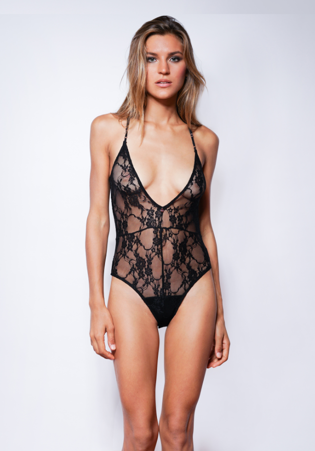 Indie Bodysuit- Black- Etheria Intimates- Miss Winks Online Lingerie Boutique
