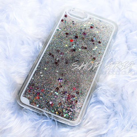 Silver Liquid Glitter iPhone 6/6s Plus Case