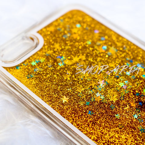 Gold Liquid Glitter iPhone 6/6s Case