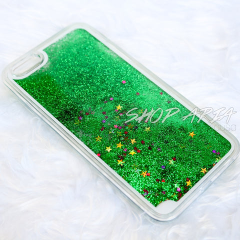 Green Liquid Glitter iPhone 6/6s Plus Case