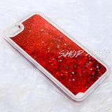 Red Liquid Glitter iPhone 6/6s Case