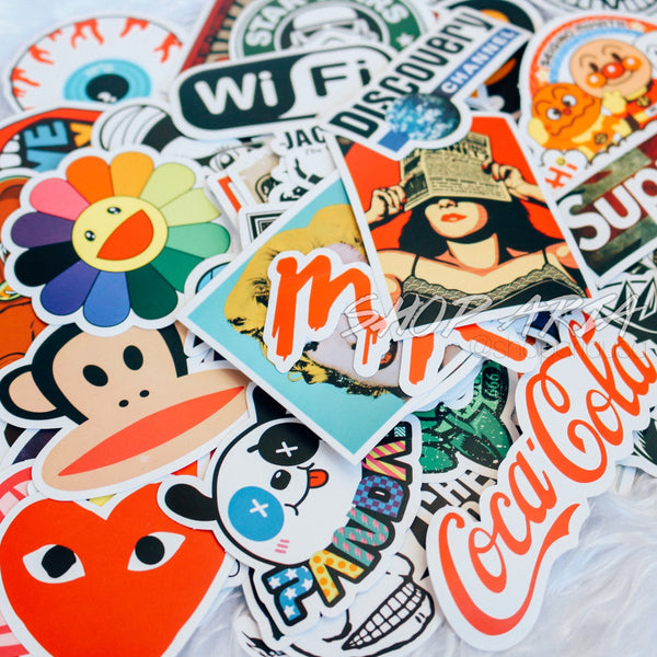 Skateboard Stickers Mix