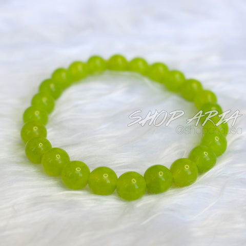 Green Agate Beaded Bracelet