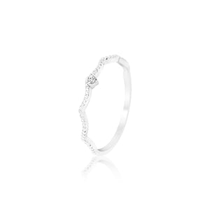 KARLEEN WAVY BAND DIAMOND RING