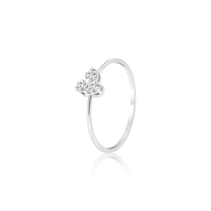 FLOWER I WHITE GOLD WIRE RING