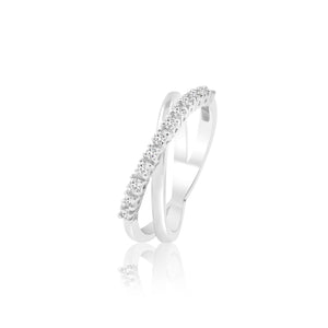 ENIF CROSS BAND DIAMOND RING