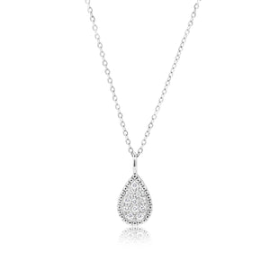 KAREENA TEAR DROP DIAMOND NECKLACE