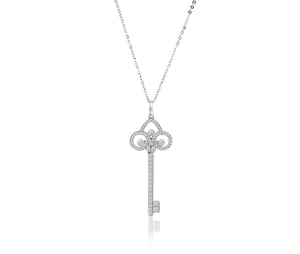 LESHAH DIAMOND KEY PENDANT