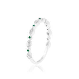 FRIDAY EMERALD & DIAMOND RING