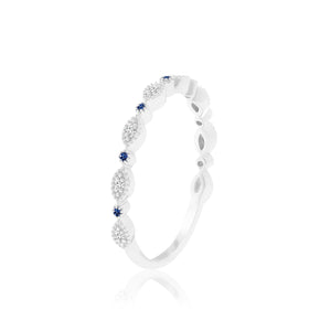THURSDAY BLUE SAPPHIRE & DIAMOND RING