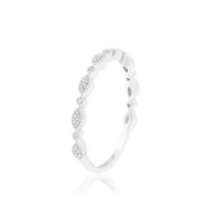 MONDAY WHITE SAPPHIRE & DIAMOND RING