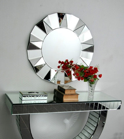 Diamond Cut Faceted Wall Mirror VDR-422