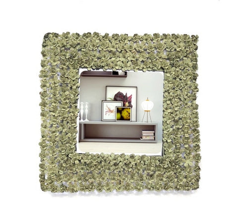 Green square mirror