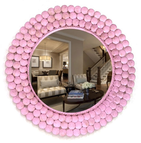 Layered Rings Mirror with Antique Finish