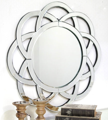 Semi Circle Pattern Wall Mirror VDR-350