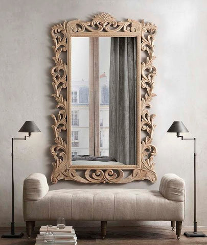 Wooden Frame Wall Mirror