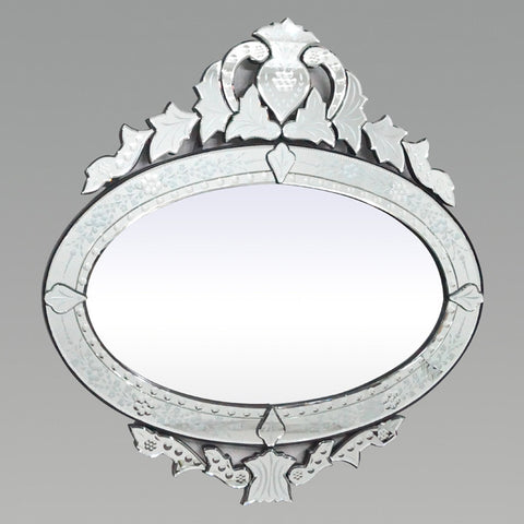 Oval Crown Venetian Mirror VD-109