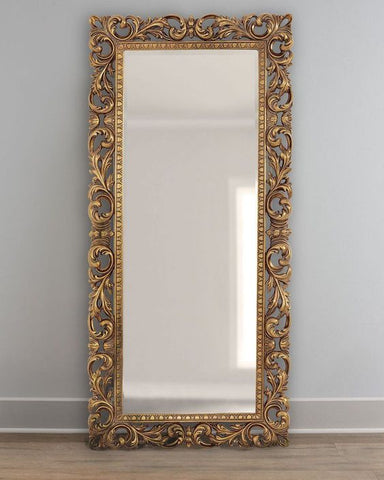 Full Length Wooden Frame Wall Mirror