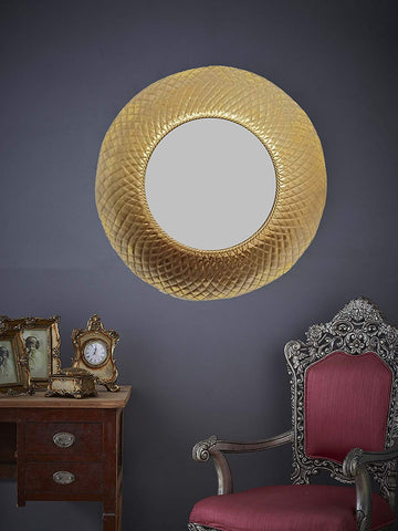 "Golden Shield Wall Mirror Diameter - 29.5"" VDSM-78"
