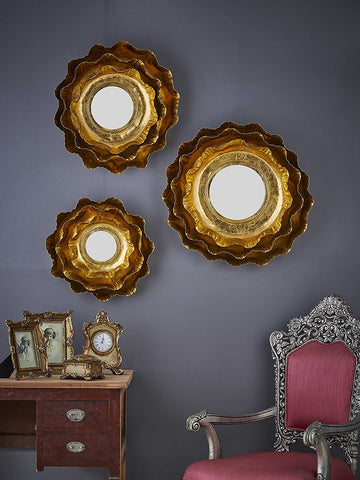 Frill Wall Mirrors, Set of 3 VDSM-11