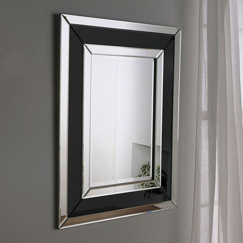 Black and Silver Art Deco Wall Mirror ADWM-05