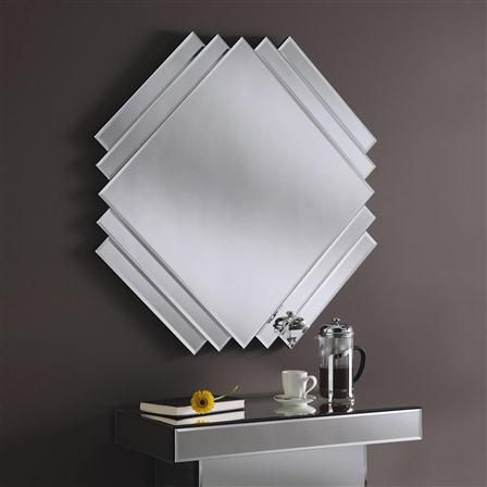 Classic Square Cut Art Deco Wall Mirror ADWM-09