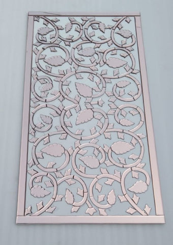 Rose Gold Mirror Wall Art Panel