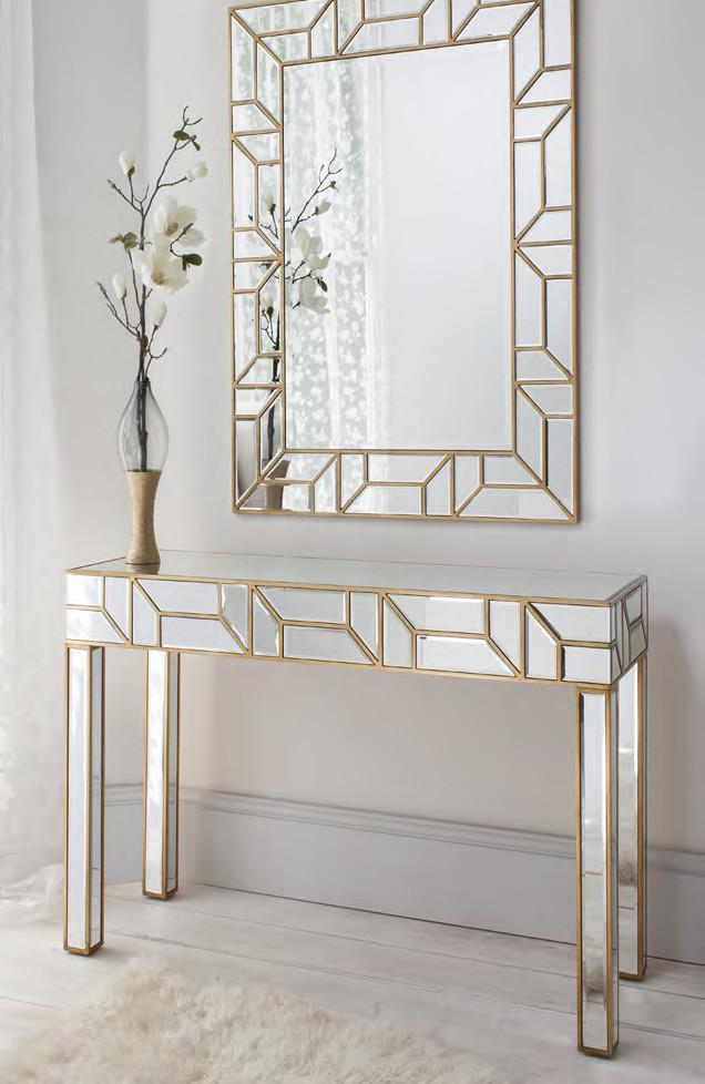 Console With Mirror Set Cwm 617