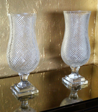 Glass Vase, Set of 2