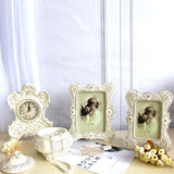 Ivory White Photo Frame Set