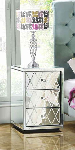 Mirrored Bed Side Table VDMF513