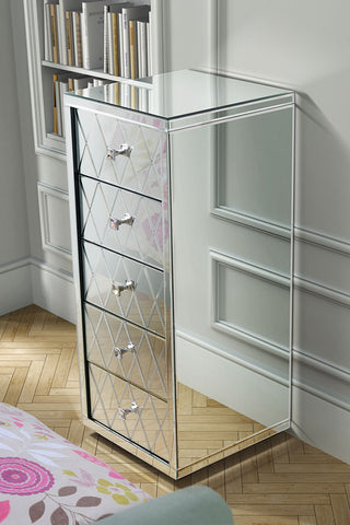 Tallboy Mirrored Chest Of Drawer VDMF515
