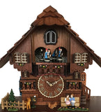 Classic Swiss Home Cuckoo Clock With Animated Couples
