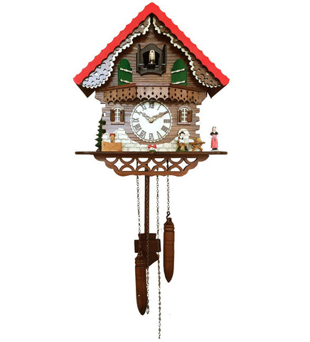 Musician Animated Simple Swiss Home Cuckoo Clock