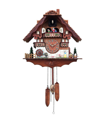 Fairy Tale Cuckoo Clock Chalet-Style Snow White And The Seven Dwarfs