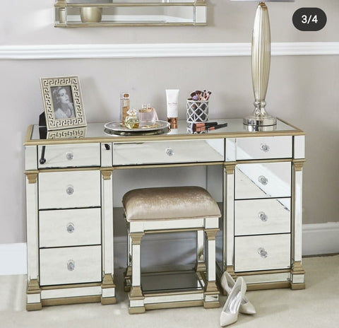 Mirrored Dressing table with Stool