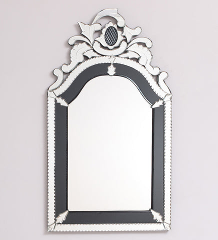 Atlanta Wall Mirror VDBL-09 36 X 24 Inches Golden Colour