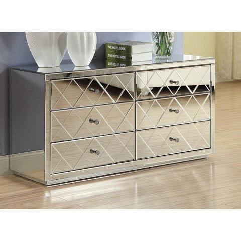 Mirrored Dressing Table, Low Chest 6 Drawer VDHZ1004