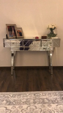 Mirrored Console with 2 Drawers