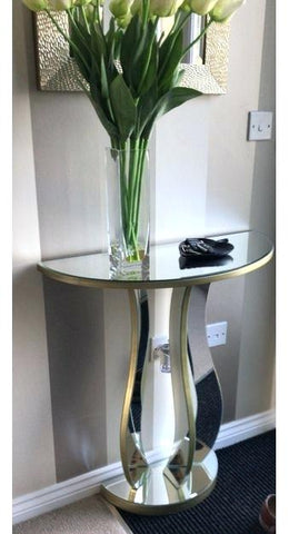 Mirrored Half Moon Console VDMF502