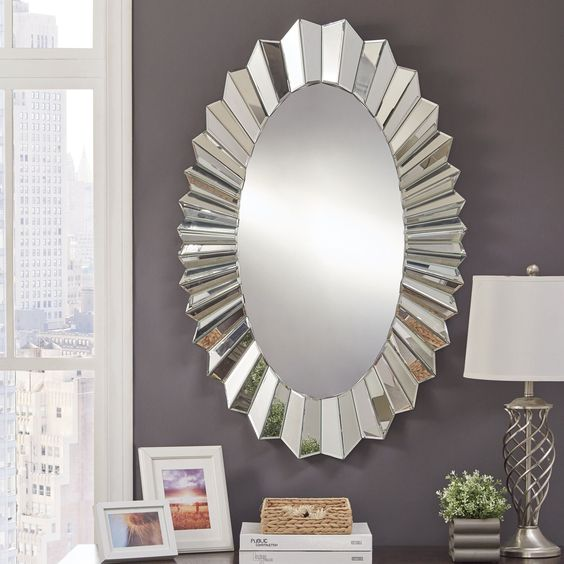 Mandie Oval Wall Mirror Vdr 511 Venetian Design The Boutique Factory 100 Heart Made Products