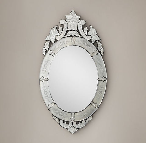 Rococo Etched Mirror - Oval VDRH-04