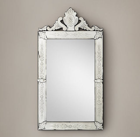 Rococo Etched Mirror - Rectangle VDRH-05